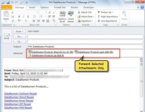 How to Quickly Forward an Email with Selected Attachments