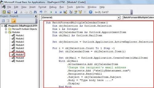 2 Methods to Batch Send Multiple Calendar Items via Outlook