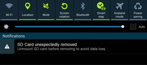 """SD card unexpectedly removed"" Error"