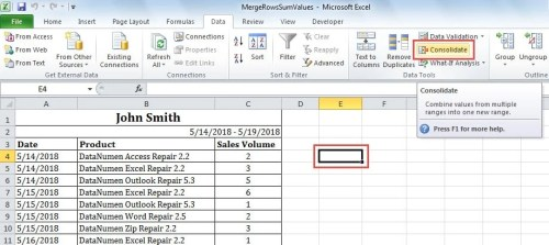 2 Easy Ways to Consolidate Rows in Your Excel - Data