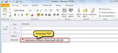 New Email with PDF Attachment