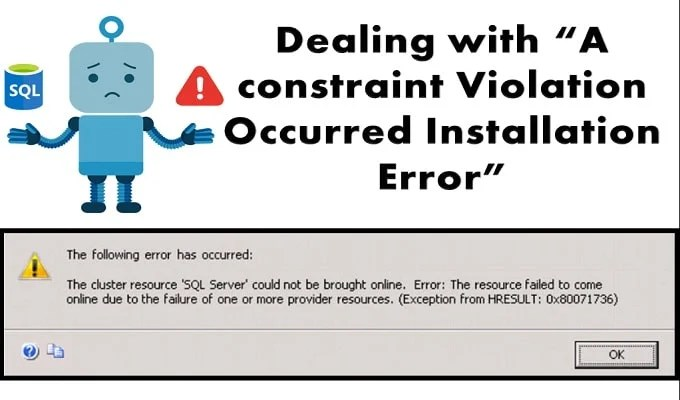 A Constraint Violation Occurred