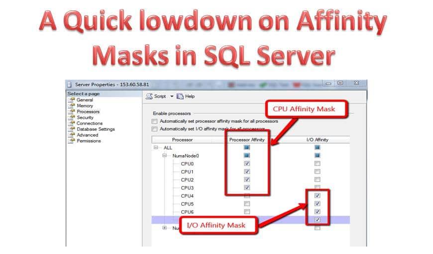 Quick Lowdown on Affinity Masks in SQL Server