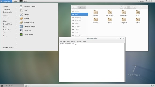 gnome gui in centos7