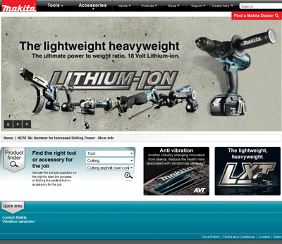 Makita UK New Website