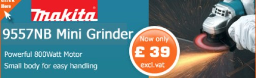 Makita 9557NB 115mm Mini Angle Grinder just £39 excl vat !