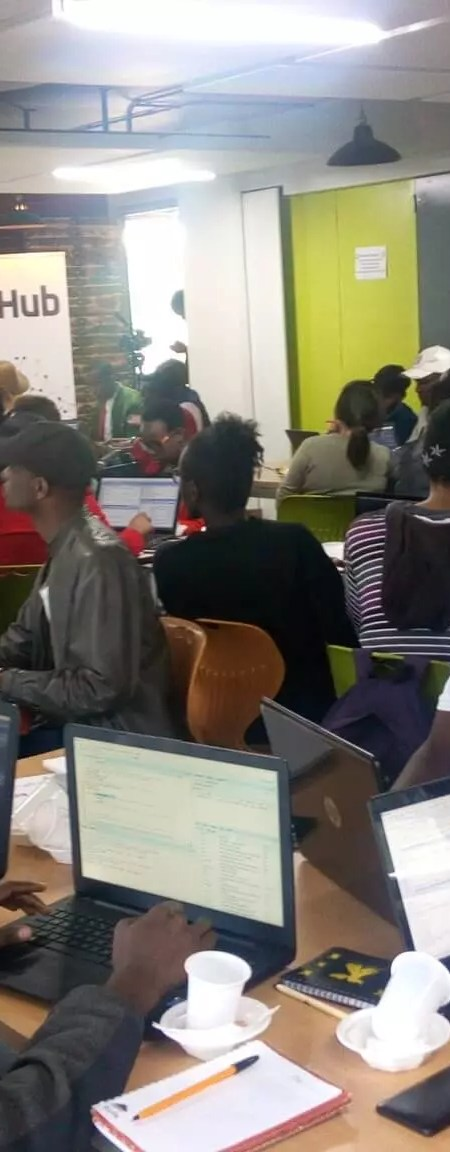 A full house learning at a NairobiR meetup in 2019