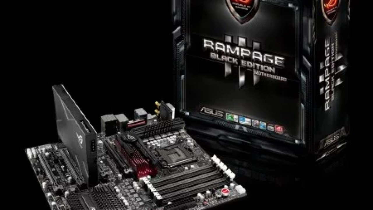 Asus Launches Rampage III Black Edition Motherboard