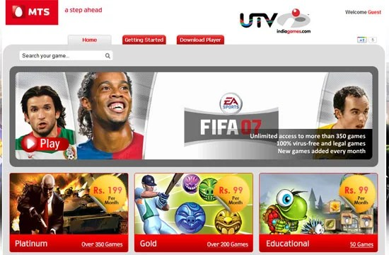 MTS Partners With UTV Indiagames To provide 'Games on Demand' Through Mblaze Wireless Broadband