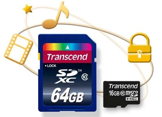 Transcend Copy Protection SD/microSD cards