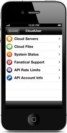 Remote Cloud Computing Management Rackspace Cloud app for iPhone