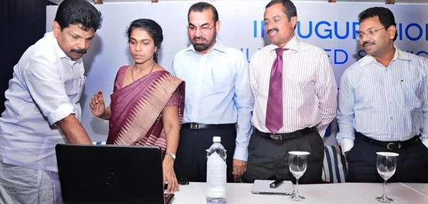 Minister AP Anil Kumar launching the new products - mobile website, WAP guide, Android, IOS apps and Bluetooth Kiosks
