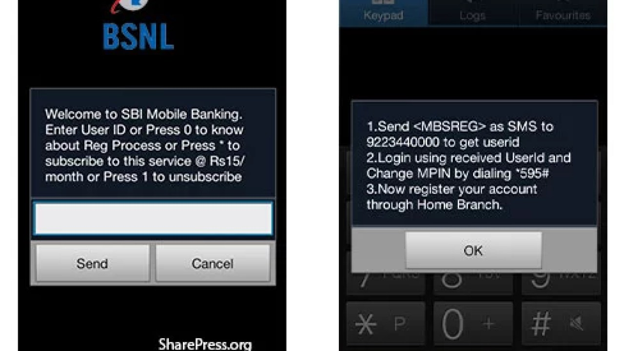BSNL Launched USSD based SBI Mobile Banking Service for Mobile Customers
