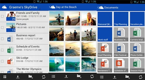 Microsoft brings Cloud Storage service SkyDrive to Android