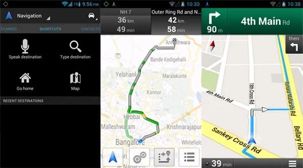 Google Maps Navigation (Beta) in India