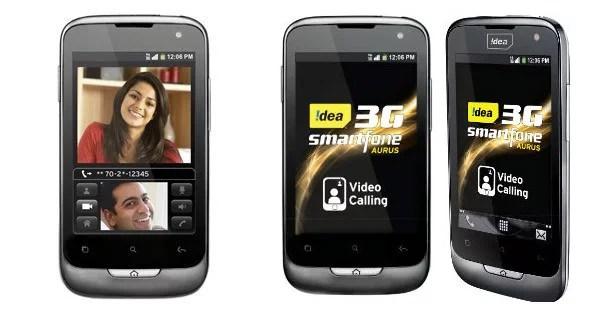 Idea Cellular 3G Android Smartphone 'Aurus'