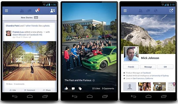 Facebook brings Faster Android App