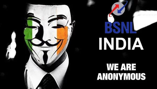 BSNL Website got Hacked by Anonymous India, Sensitive information