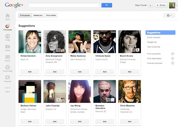 Easily find friends & colleagues on Google+, renames Circles to 'Find People'