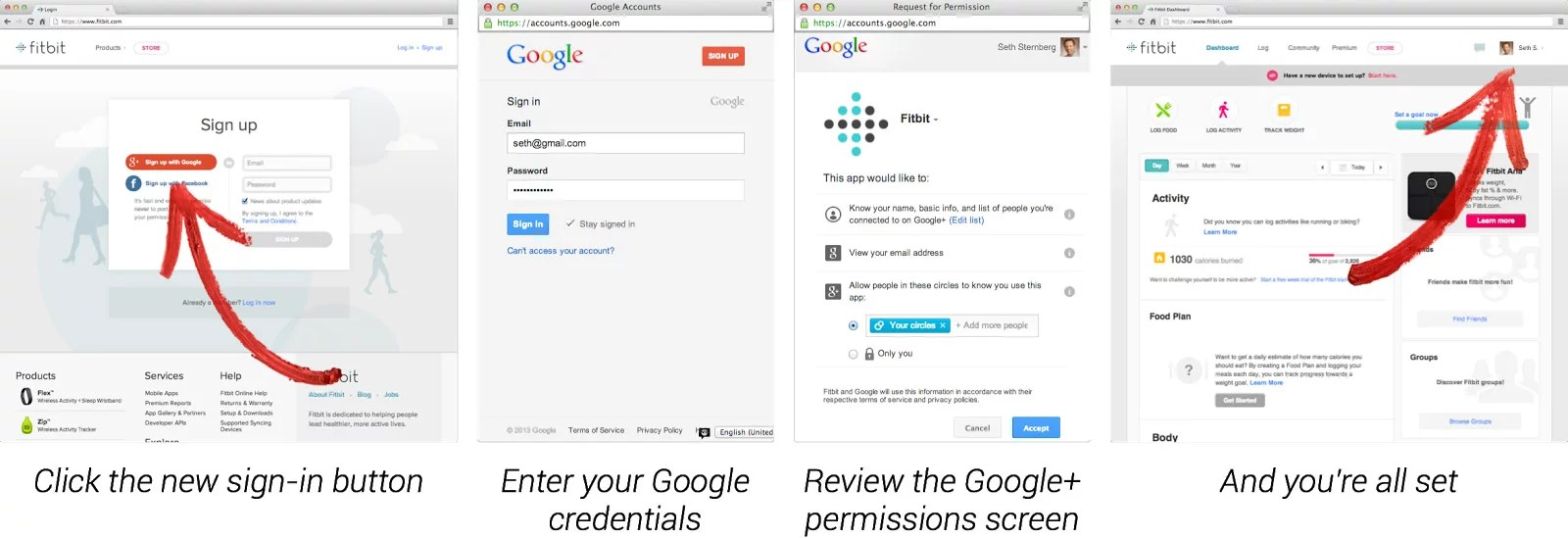 Google plus Sign in Simple and secure login