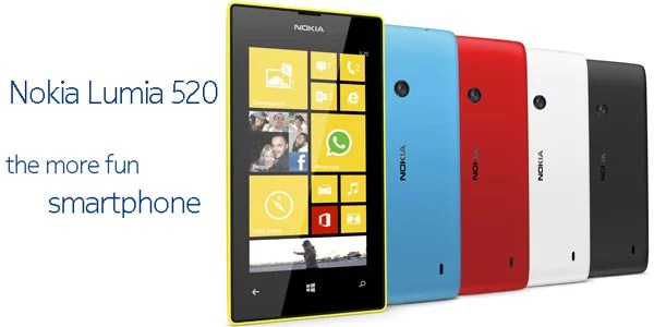 Nokia Lumia 520 windows smartphone