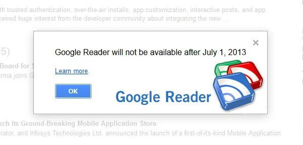 Google Reader get Axed by Google along with Several Other Services