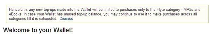 Flipkart Prepaid Wallet restricted to digital goods