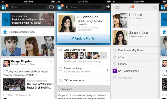LinkedIn revamped Mobile App with refreshed UI experience