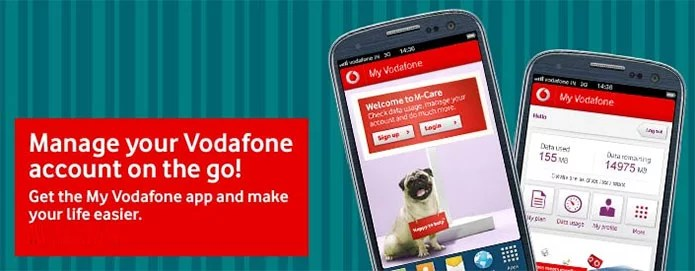 'My Vodafone' mobile app - Manage your Vodafone services on the Go