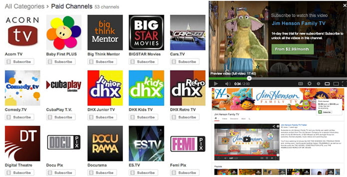 Paid Channels comes to Youtube, Subscription fee starts at $0.99 per month