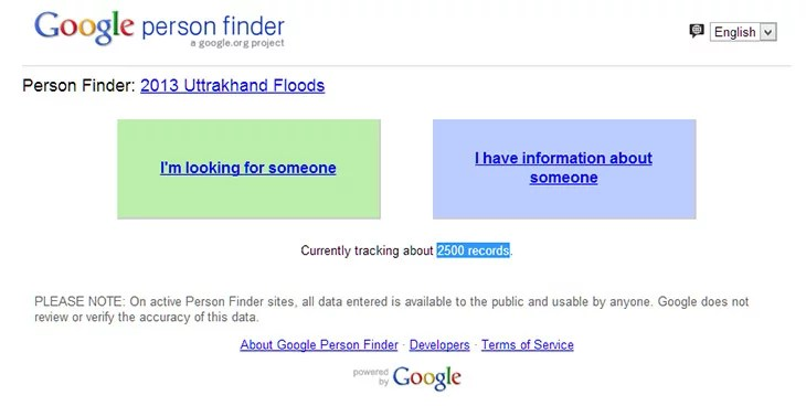 Get Information on missing people in Uttarakhand Floods with Google Person Finder