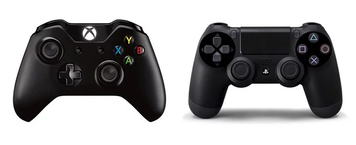 Sony PS$ and Microsoft Xbox One Controllers