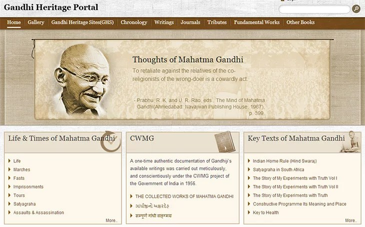 Gandhi Heritage Portal goes Live offers Gandhiji's Original writings, photo archive and thousands of Books