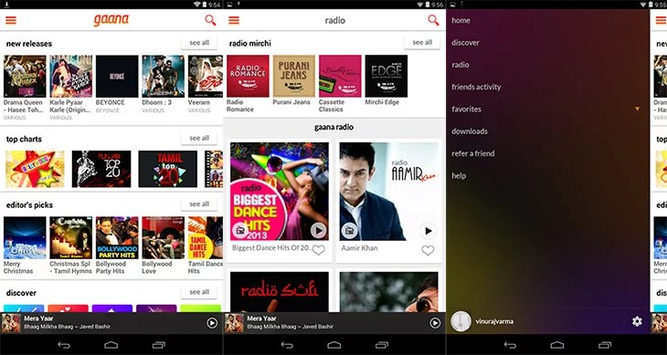 Gaana brings the Refreshing new Design and advanced Music Experience to Mobile Apps