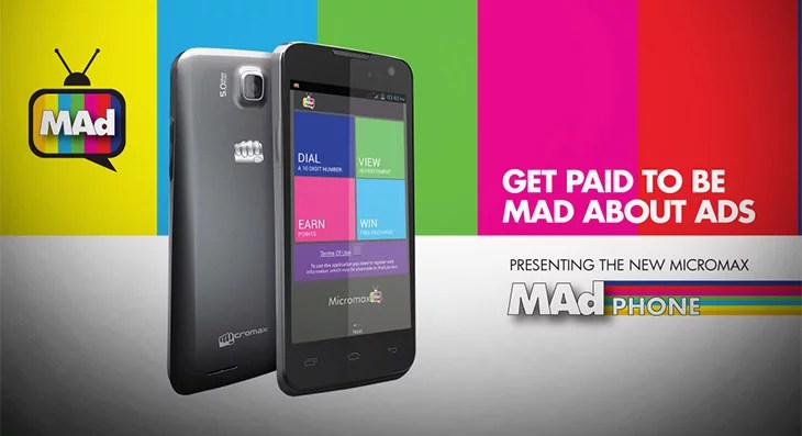 Micromax unveils Canvas MAd A94 smartphone that Pays you to Watch Ads