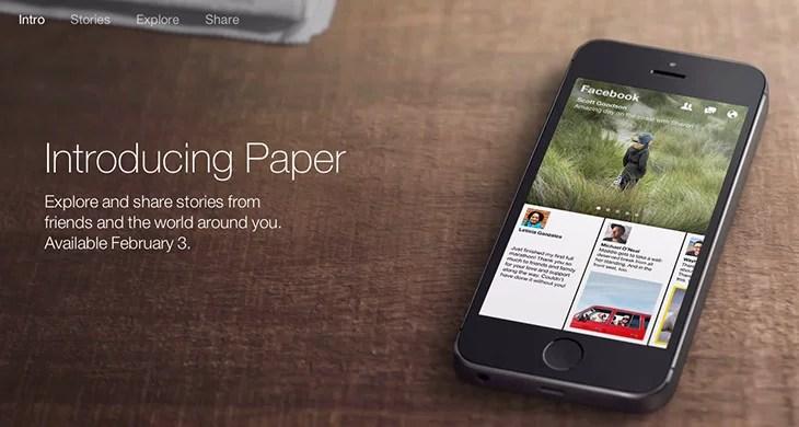 Facebook News reading app - Paper