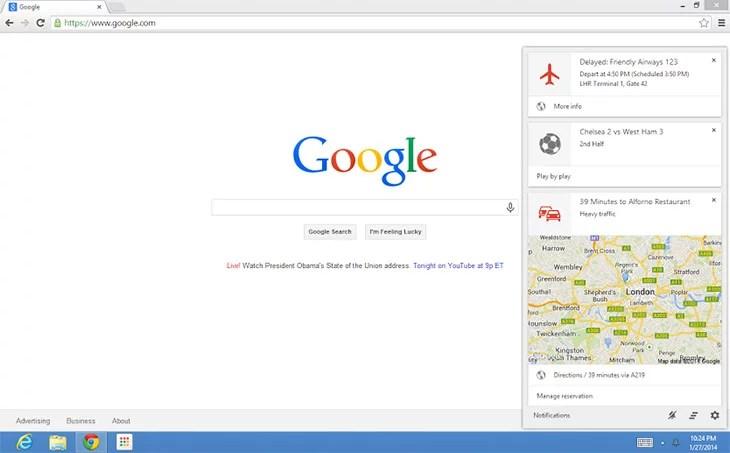 Google Now lands on Desktop Chrome for Windows & Mac