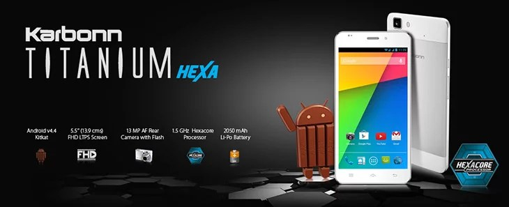 Karbonn Titanium Hexa Android Smartphone Specification and Pricing