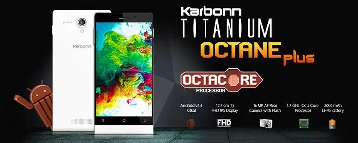 Karbonn Titanium Octane & Titanium Octane Plus Specifications and Pricing