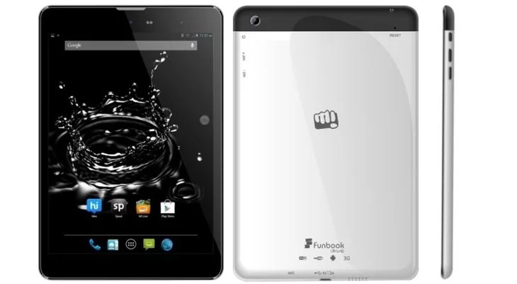 Micromax Funbook Ultra HD P580 Tablet with 7.8inch display, 1.2 GHz Processor, 3G+WiFi [Review]