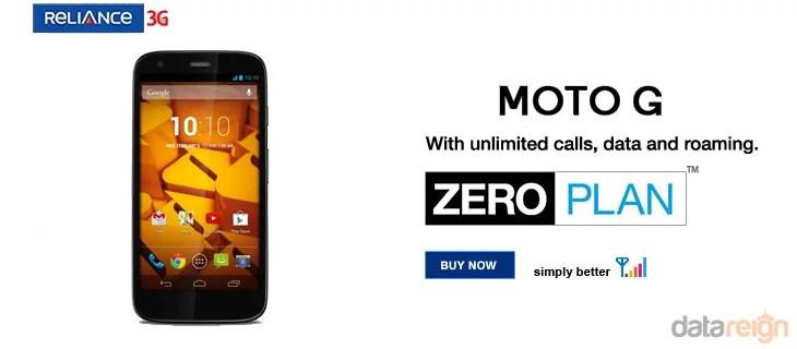 RCom introduces 'Zero Plan' EMI scheme for Moto G with Unlimited benefits
