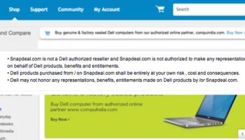 1fb4a88aa17 Dell takes on Snapdeal - Warns users Buying its products from the Shopping  Site