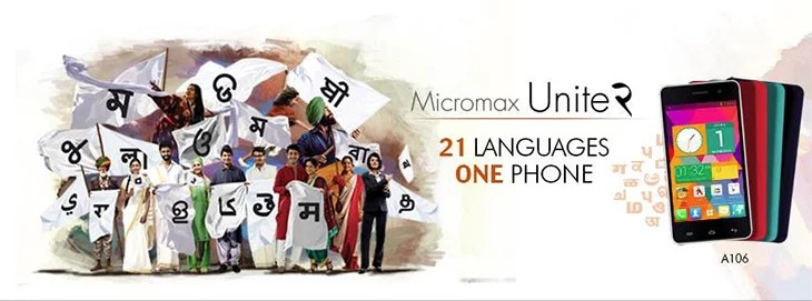 Micromax answer to Moto E - Unite 2 with Quad-core CPU, KitKat, 21 Languages for Rs 6999