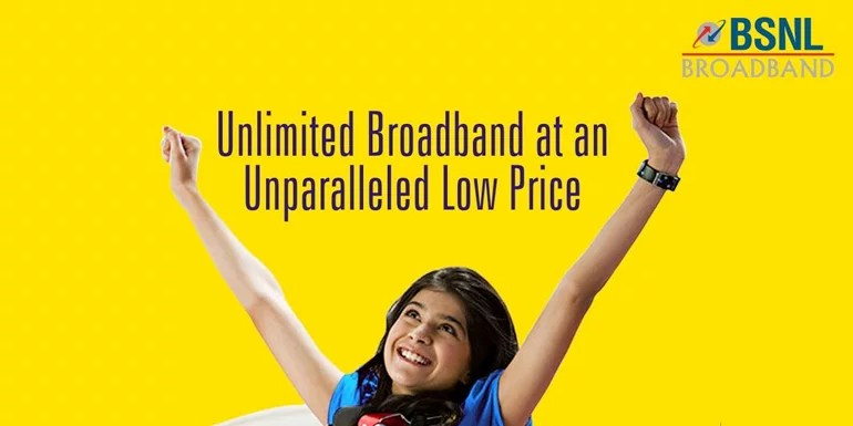 BSNL now offers true Unlimited Broadband Plan with 2Mbps speed & unlimited Free Calling