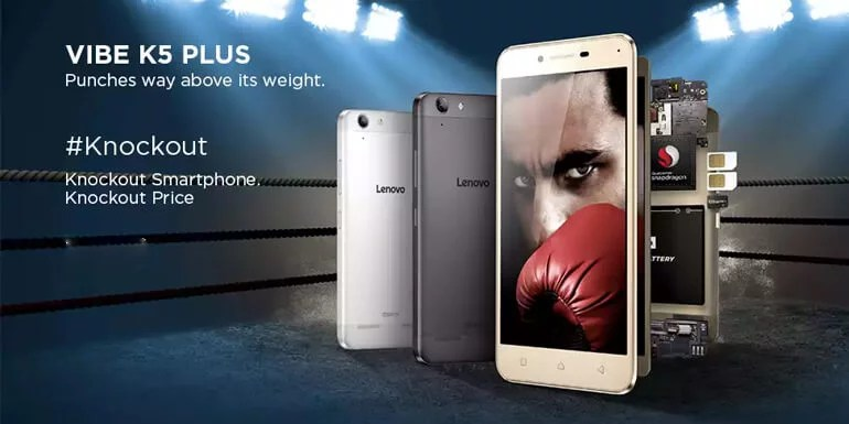 Lenovo Vibe K5 Plus launched in India for Rs 8,499 - Dolby Atmos, FHD display, Snapdragon processor