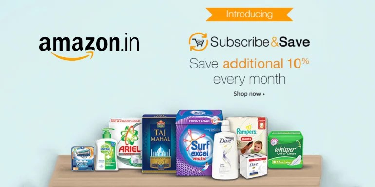 Amazon India introduces Subscribe & Save Store for your monthly Daily essentials