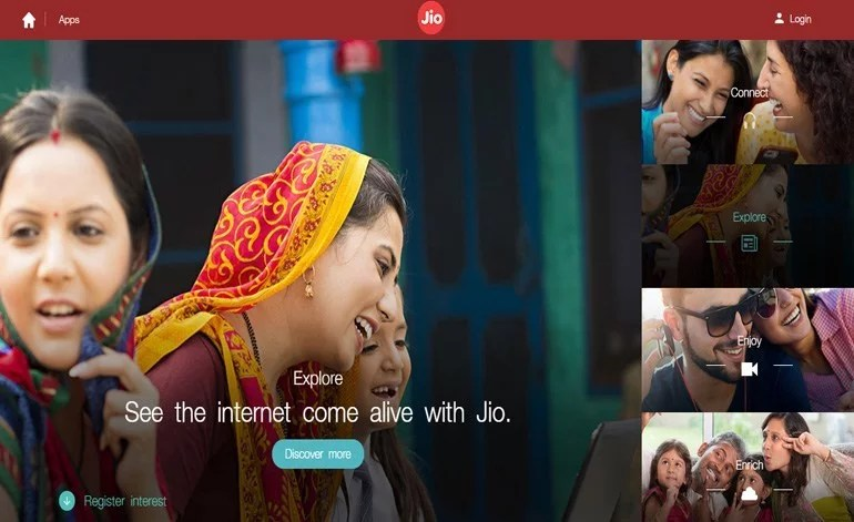 Reliance Jio official website goes Live - 4G Network trail opened for Public