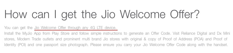 Jio Welcome Offer for Apple iPhones