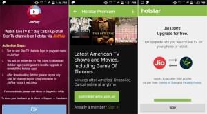 Reliance Jio to offer Free Hotstar Premium Membership via JioPlay