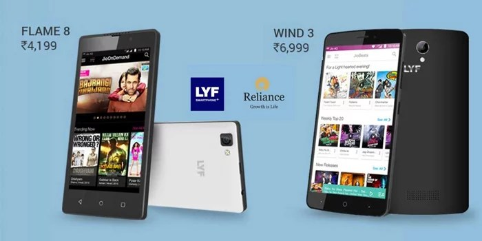 new styles ca256 4a771 LYF Wind 3 & LYF Flame 8 with 4G VoLTE launched exclusively via Flipkart
